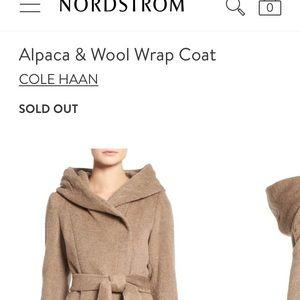 NWT Cole Haan Alpaca & Wool Jacket- Sz 8.